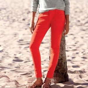 J. Crew Pants - J. Crew Andie orange chino casual pants 8